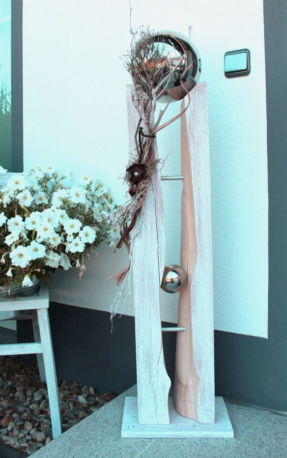 GS55 - Große Säule für Innen und Außen! Große gespaltene Säule, natürlich dekoriert mit einer großen Edelstahlkugel die herausnehmbar ist! Preis 149,90€ - Höhe 110cm