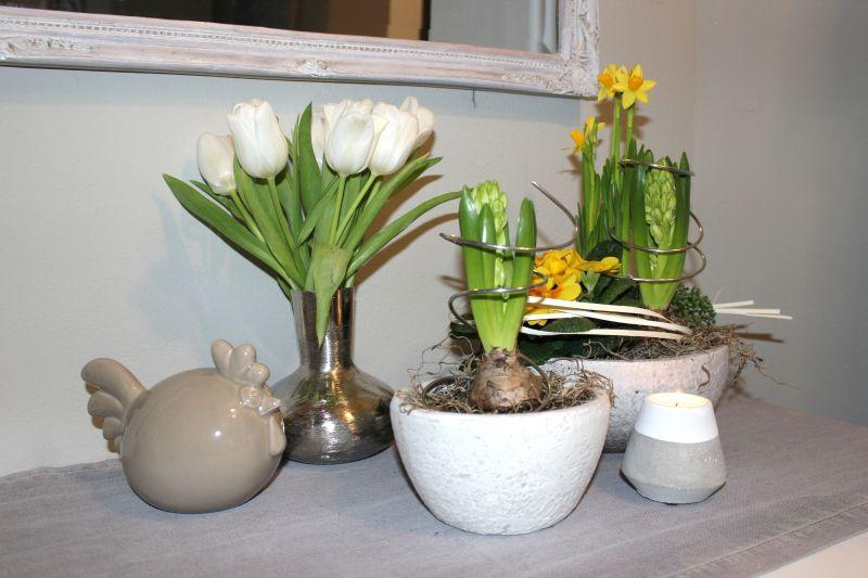 TD149 - Keramikschale 22cm 12,90€ Preis ohne Pflanze Keramikhenne 20x12cm 19,90€ Betonteelicht 7cm 3,90€ Metallvase 15cm 16,90€ in drei verschiedenen Ausführungen erhältlich!