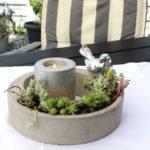 TD168 - Schale aus Beton zum Bepflanzen! Preis ohne Deko 9,90€ Durchmesser 20cm Preis Teelicht 5,90€ Höhe 9cm