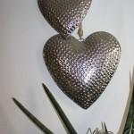 WD52 - Dekoherzen für Innen und Außen! Herzen aus Alu als Wand oder Türdeko! Herz klein ca 20 cm Preis 15,90€ - Herz groß ca. 30 cm Preis 18,90€