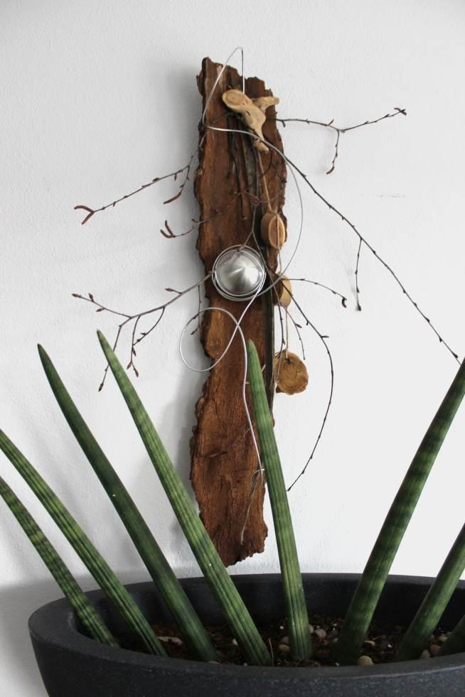 Wd21 Baumrinde Als Wanddeko Naturlich Dekoriert Mit Einer