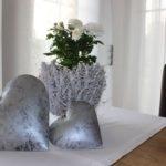 TD143 - Herzen aus Metall Preis 8,90€ Größe15cm Windlicht oder Blumentopf aus Rebenholz Preis 19,90€ Durchmesser 23cm