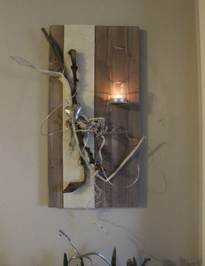 Wanddeko Aus Holz Und Metall ~ WD27 – Wanddeko aus neuem Holz!Holzbrett gebeizt und natürlich