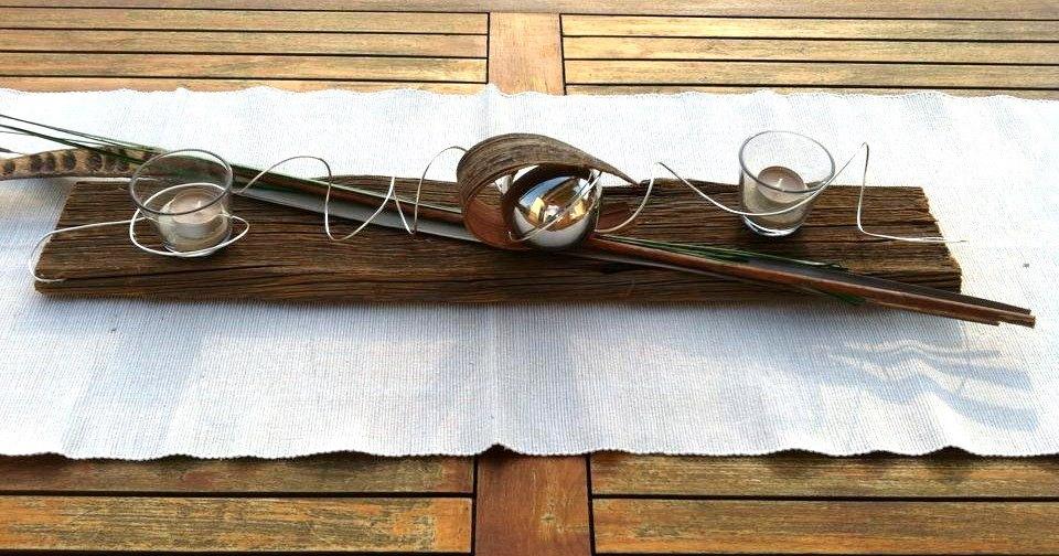 Holzbrett behandelt und dekoriert