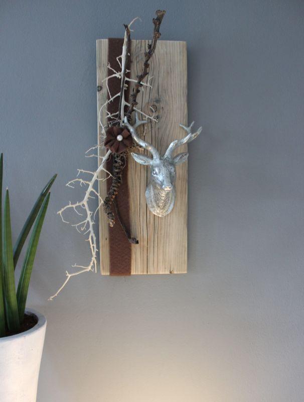 Wanddeko Aus Holz Und Metall ~ HE55 – Wanddeko aus altem Holz! Altes Brett bearbeitet dekoriert mit