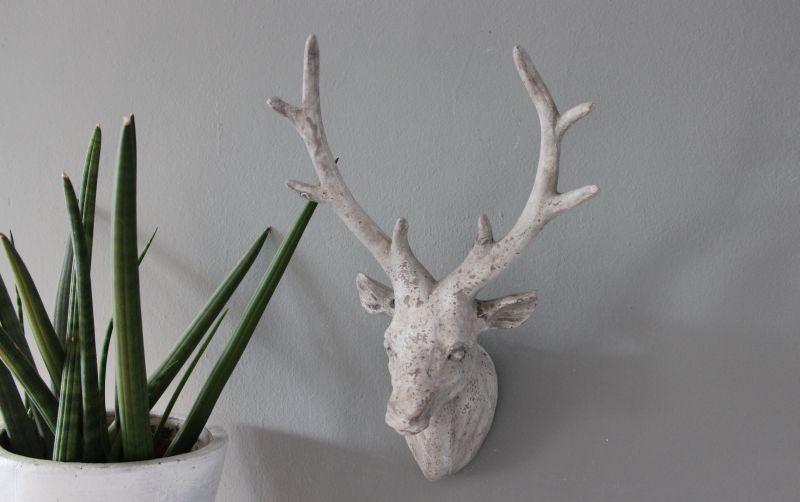TI007 - Hirschkopf aus Polystein! Preis 24,90€ Höhe ca. 43cm