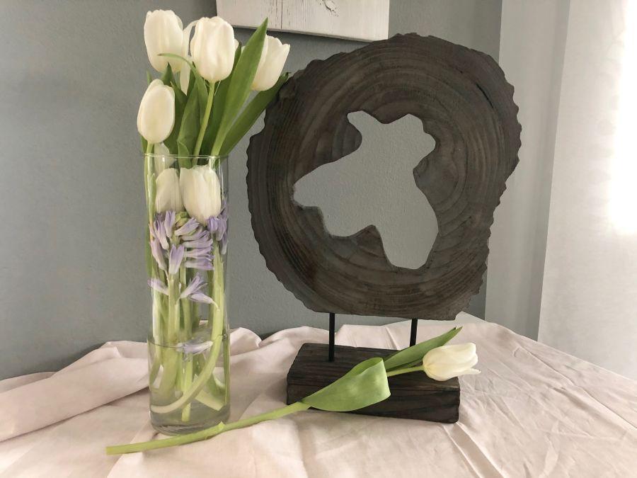 TD556 - Holzdeko-Ornament auf Sockel! Preis 29,90€ Größe 42x33x12cm