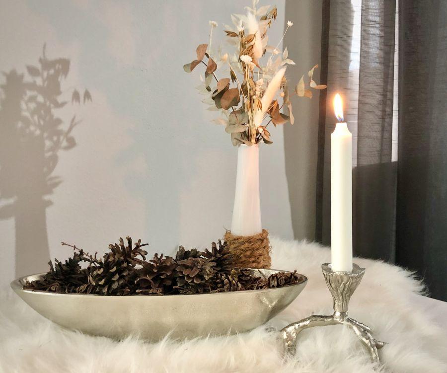 HE129 - Kerzenhalter in Astform aus massivem Metall Preis 19,90€ Größe ca. 20x15x10cm Flaschenvase Preis 7,90€ Höhe 23cm