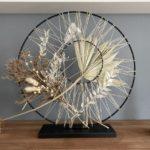 TD577 - Doppelter Metallring, dekoriert mit Trockenblumen als Tür, Wand oder Fensterdeko! Preis 44,90€ Durchmesser 35cm