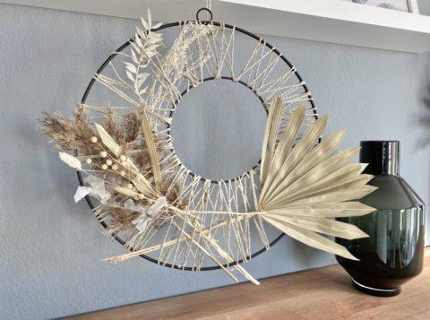 WD138 - Doppelter Metallring, dekoriert mit Trockenblumen als Tür, Wand oder Fensterdeko! Preis 59,90€ Durchmesser 40cm