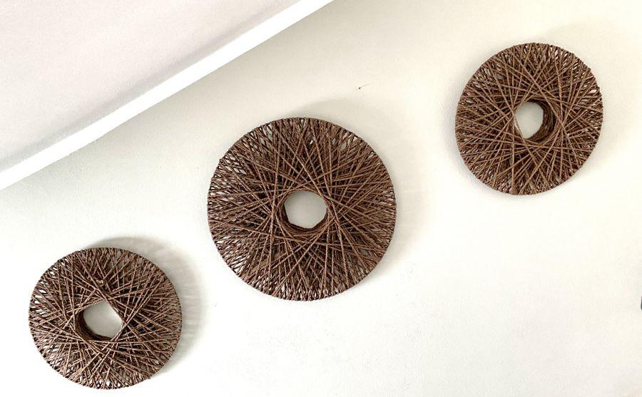 WD149 - Geflochtenes Wandelement! Preis 19,90€ Durchmesser 40cm Preis 24,90€ Durchmesser 50cm